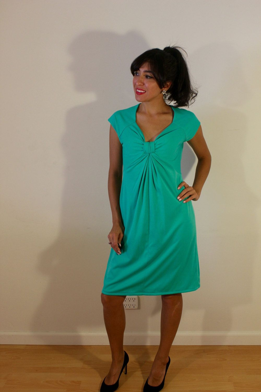 1960s Robinson's California Aqua Green Dress by VintageRevival818 on Etsy