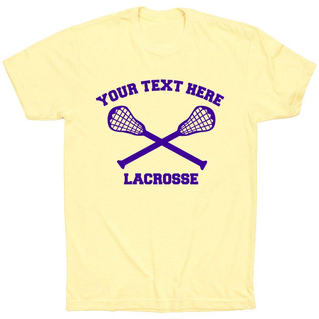 Lacrosse Team Short Sleeve TShirt Custom Team Shirt For