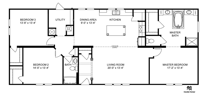Clayton Homes Home Floor Plan Manufactured Homes Modular Homes Mobile Home Floor Plans House Blueprints Small House Plans
