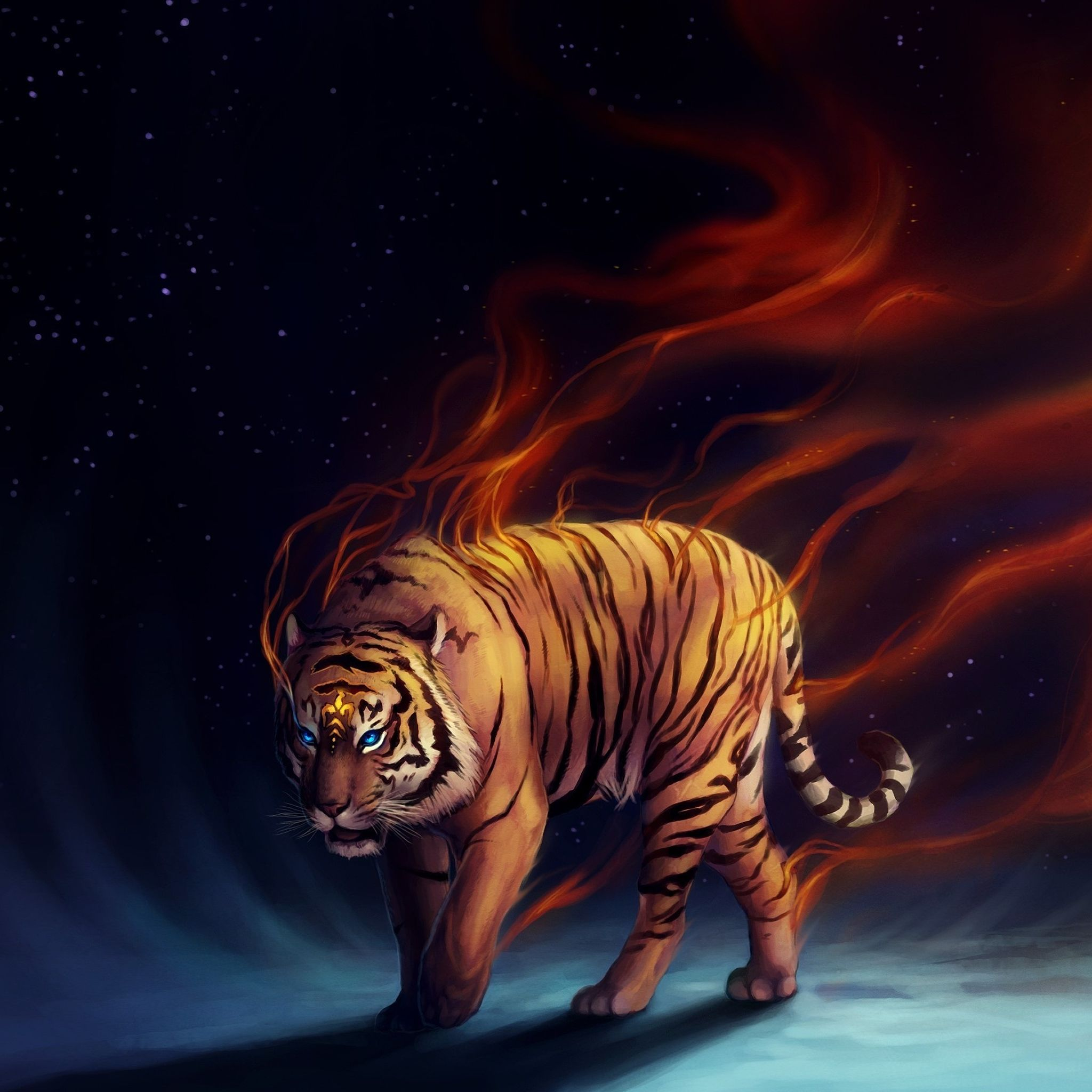 Really Cool Tiger Art