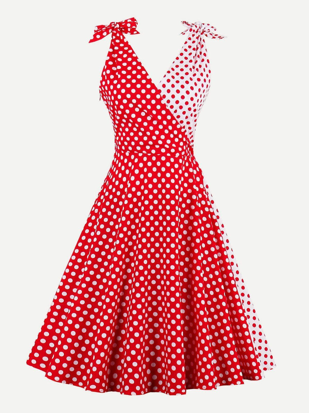 Fashionable polka dot dresses in retro style 83