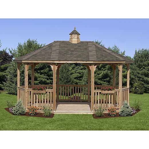 HomePlace by Suncast Oval Cedar Gazebo Kit Floor (12 ft. x 18 ft.)
