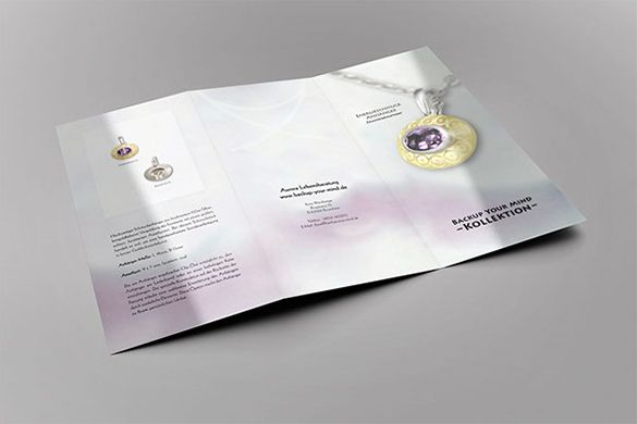 Jewelry Brochure Templates  Free Psd Eps Ai Indesign Word