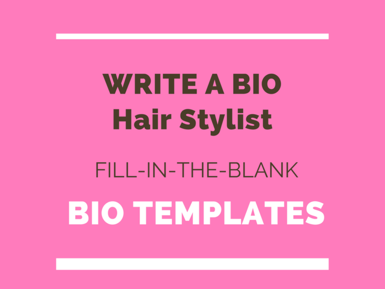 Hair Stylist Writing A Bio Professional Hairstyles Hair