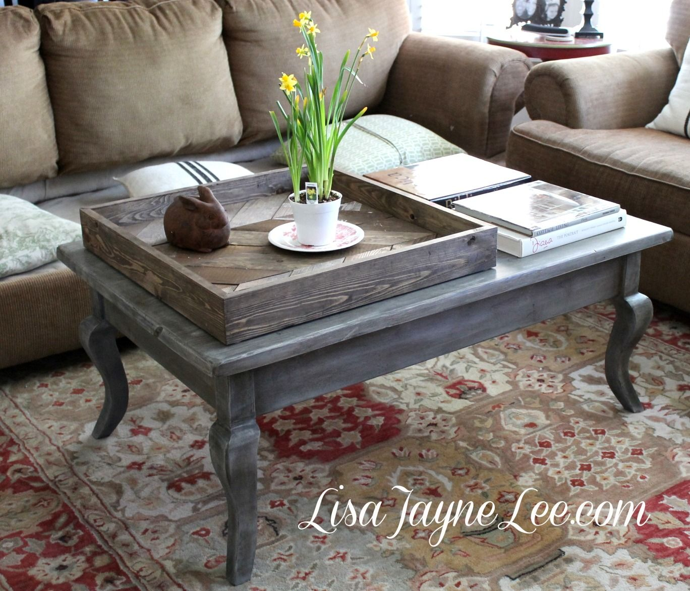 Grey Wood Stain Coffee Table Makeover Staining Wood Furniture