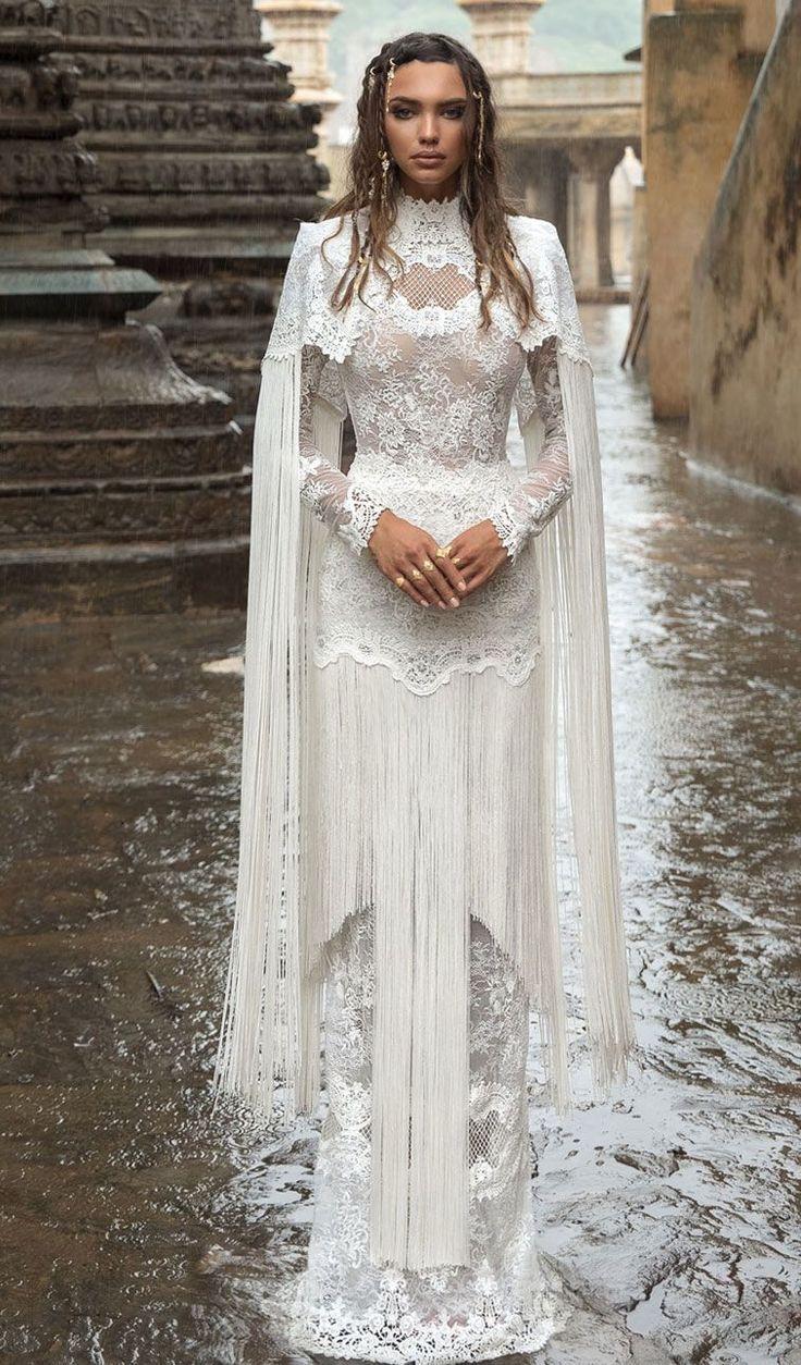High neck wedding dresses  Lior Charchy Wedding Dresses  u India  Bridal Collection