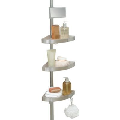 Buy Telescoping Corner Shower Caddy With Plastic Shelves From Bed