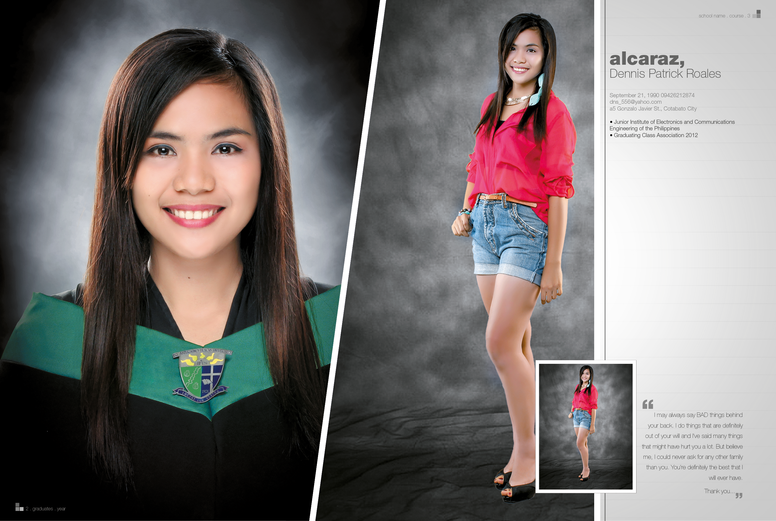 sample yearbook page layout