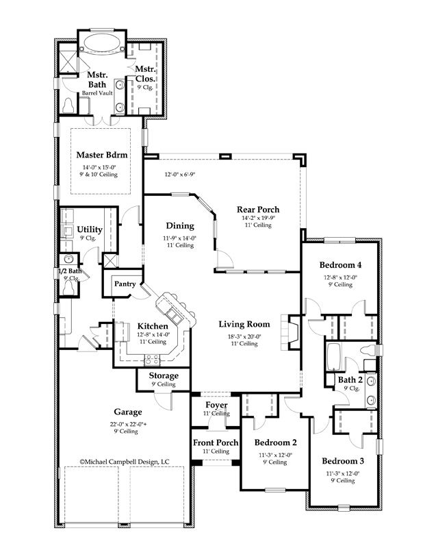 House Plan 2365 Square Feet French Country Home Style