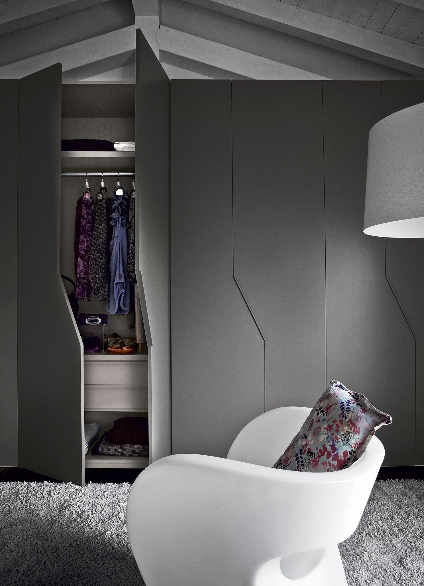 unika bedroom wardrobe novamobili sliding door