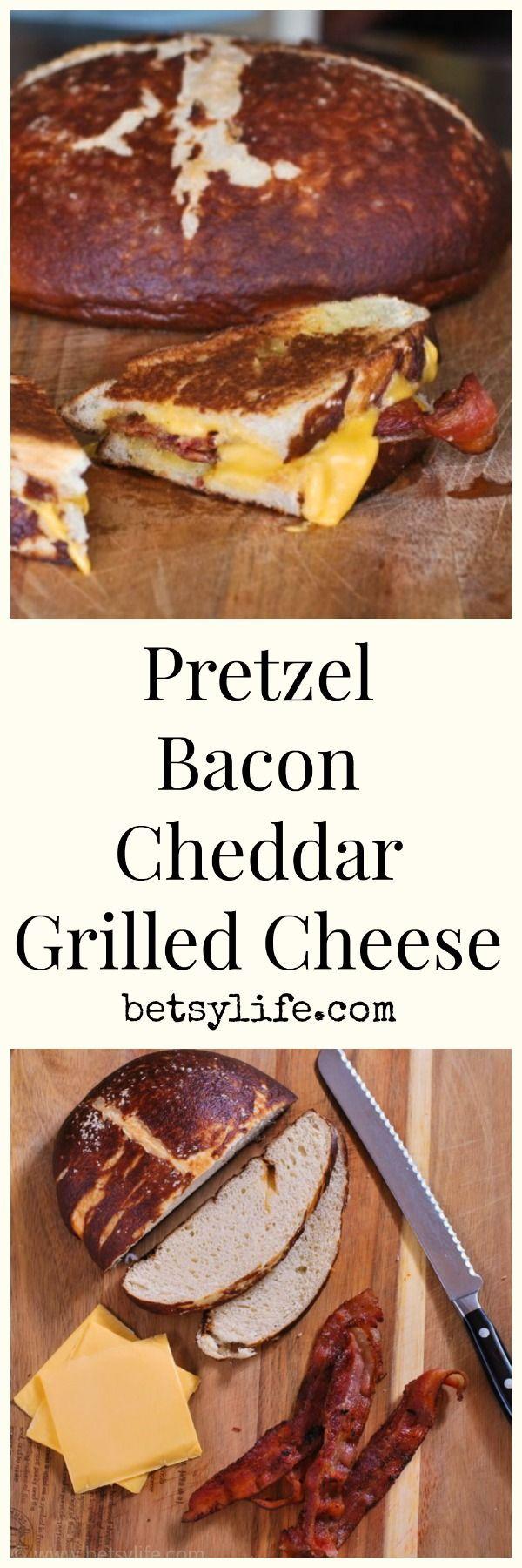 Pretzel Bacon Cheddar Grilled Cheese