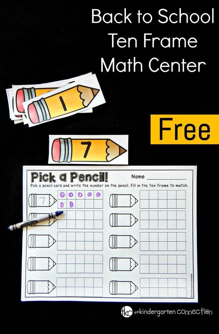 Pencil Ten Frame Activity | Kind und Mathe