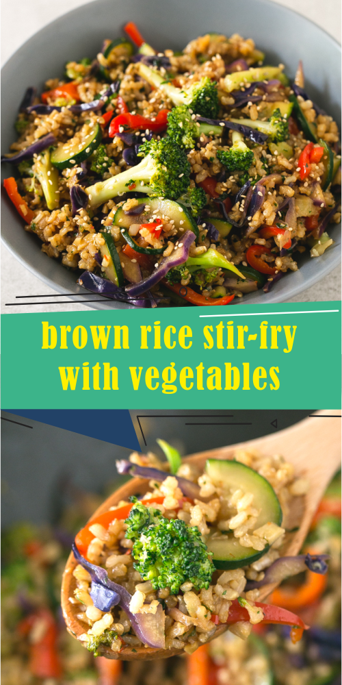 Photo of brown rice stir-fry with vegetables – Best easy cooking