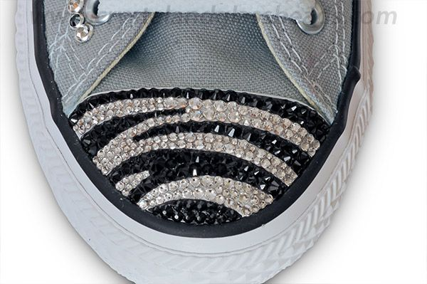 Swarovski Crystal Zebra Converse Tutorial | Crystal and