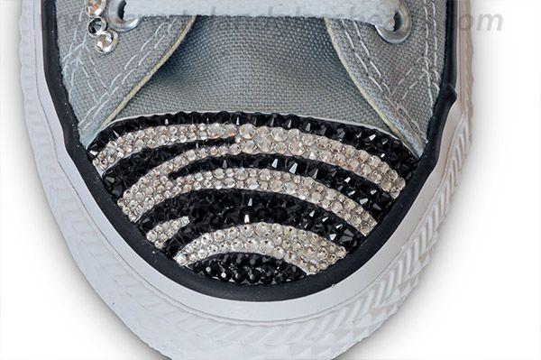 f5f5b984bd8d Swarovski Crystal Zebra Converse Tutorial