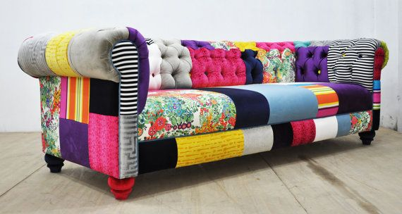 Hey I Found This Really Awesome Etsy Listing At Https Www Etsy Com Listing 448892954 Chesterfield Patchwork S Patchwork Sofa Sofa Colors Patchwork Furniture
