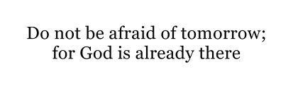 Don't be afraid <3