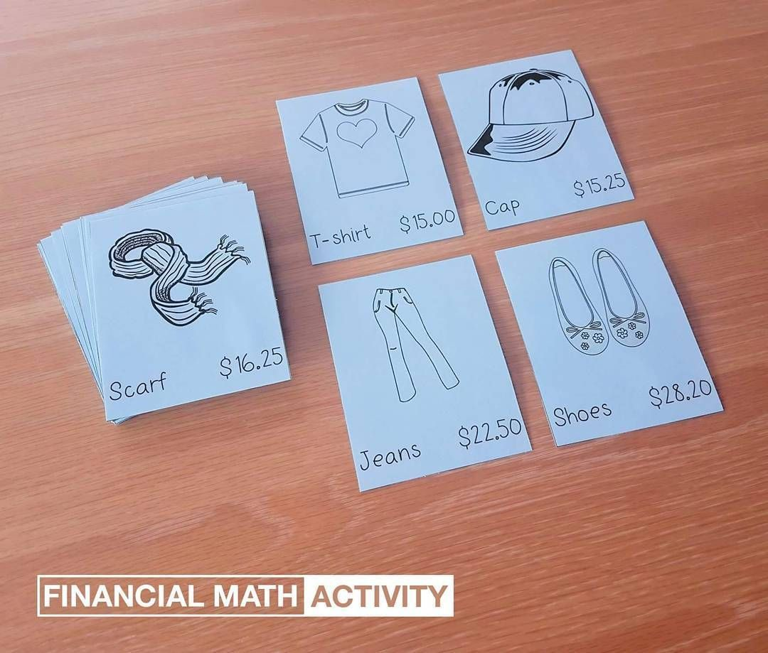 Financial Math Shopping Activity With Images