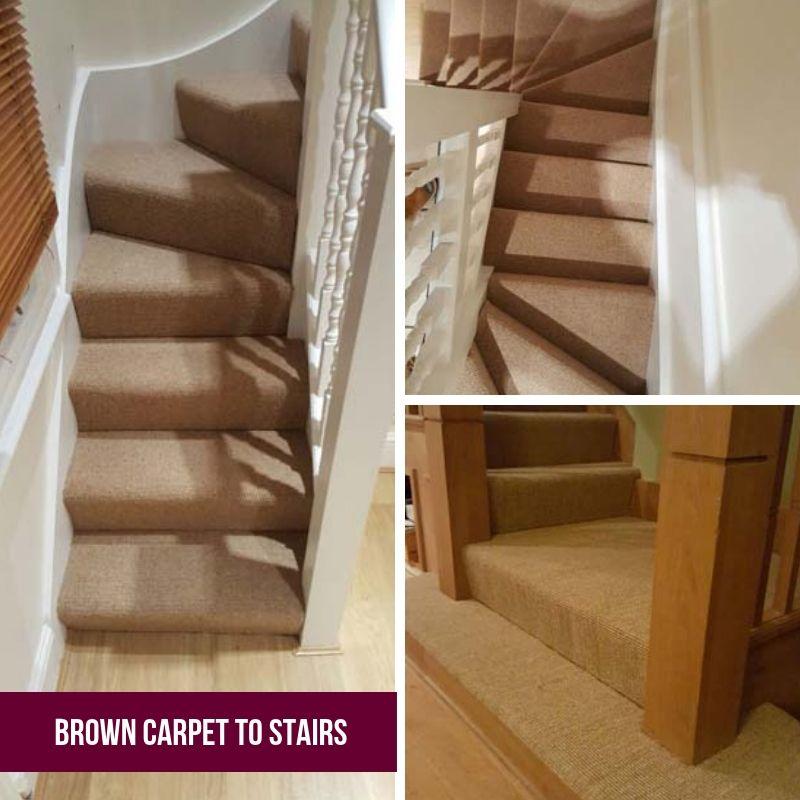 Best Stairs Brown Carpet Stairs Carpet 400 x 300