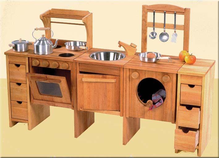 Beistellschrank 50cm Kinderküche Schoellner, Holz - villa bambini - küche aus holz