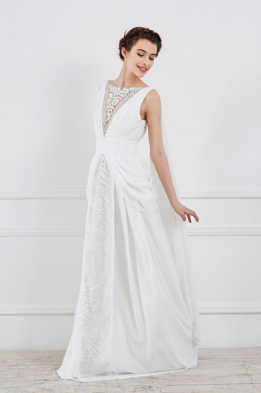 Весільна сукня з шифону fb6e51b79aa8a
