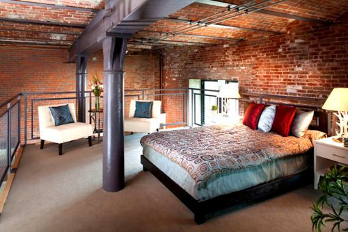 Brick Loft Apartment fuck yeah, awesome houses! - exposed brick brewery loft | at the