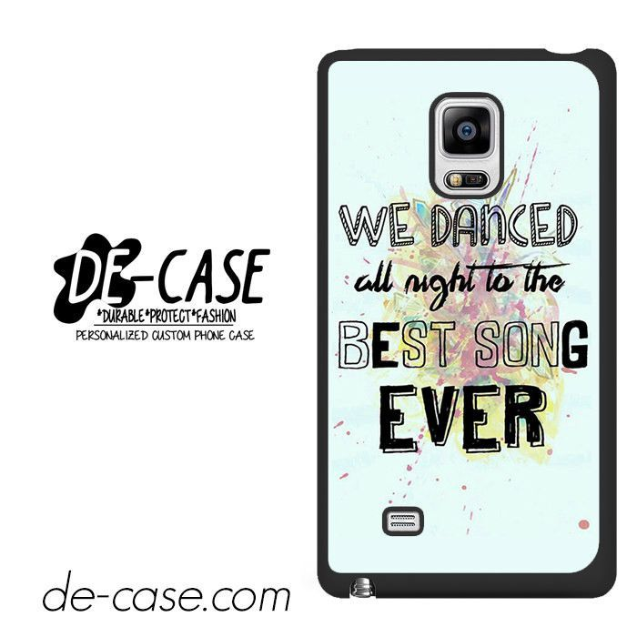 One Direction Lyrics We Dance All Night DEAL-8239 Samsung Phonecase Cover For Samsung Galaxy Note Edge