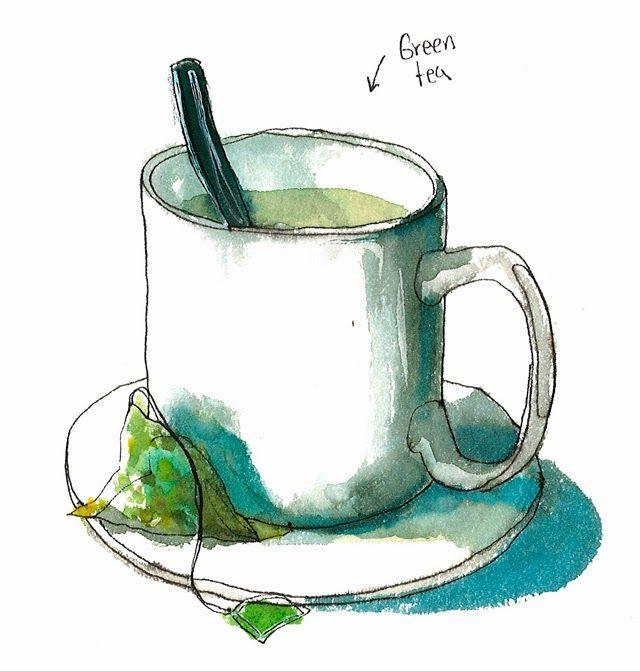 Green tea by Cristina Curto www.criscurto.blogspot.es