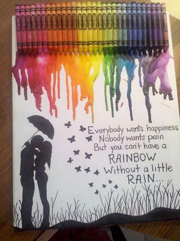 28 Fantastic Melted Crayon Art Ideas | Crayon art, Crayons and Craft