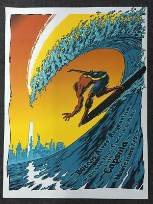 Damian Fulton Pearl Jam Buenos Aires Argentina Poster Pj