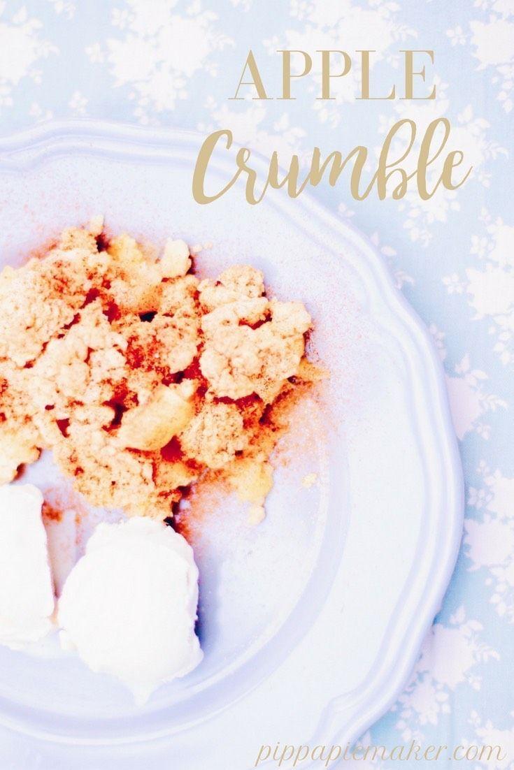 apple crumble apfelkuchen und dessert in einem german blogger food pinterest apples. Black Bedroom Furniture Sets. Home Design Ideas