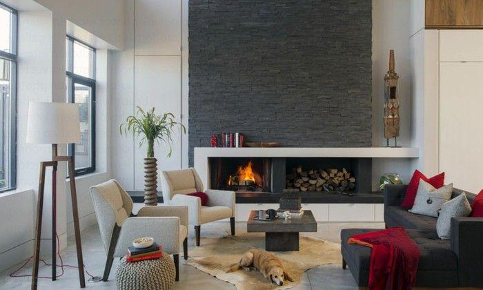 deko ideen furs wohnzimmer deko steinwand wohnzimmer and, Wohnideen design