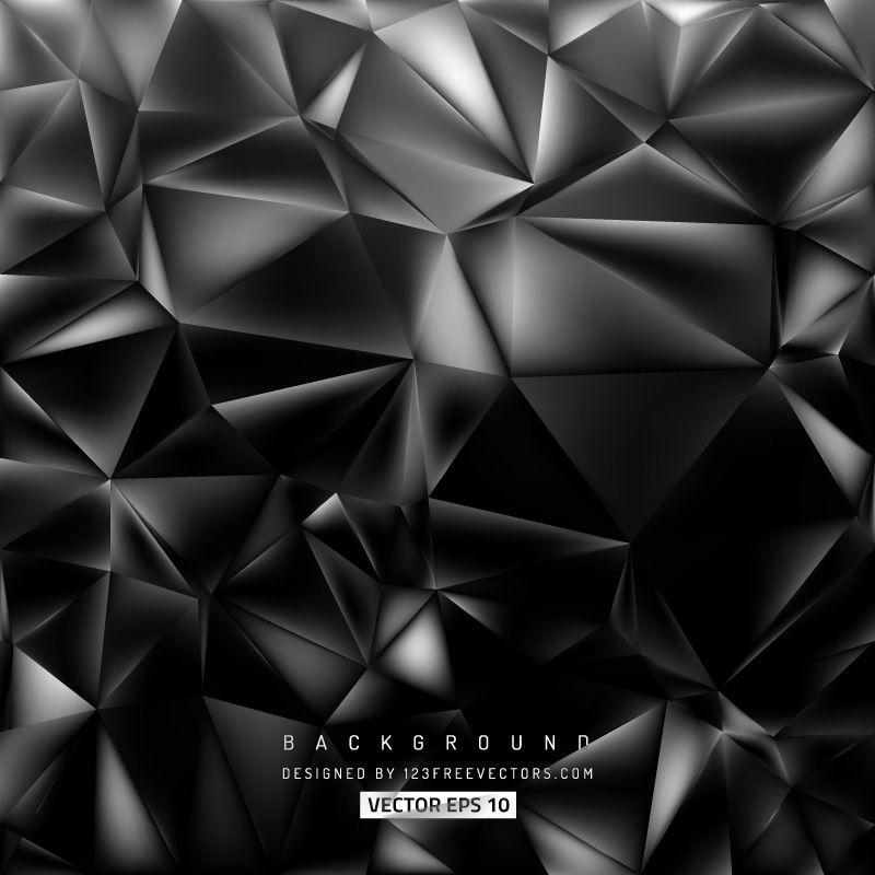 Free Cool Grey Polygonal Background Vector Art Vector Art