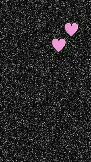 Sparkles And Hearts Wallpaper Pink Wallpaper Iphone Cute Black