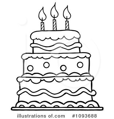 Birthday Cake Clip Art Black And White Pictures Images And Yard