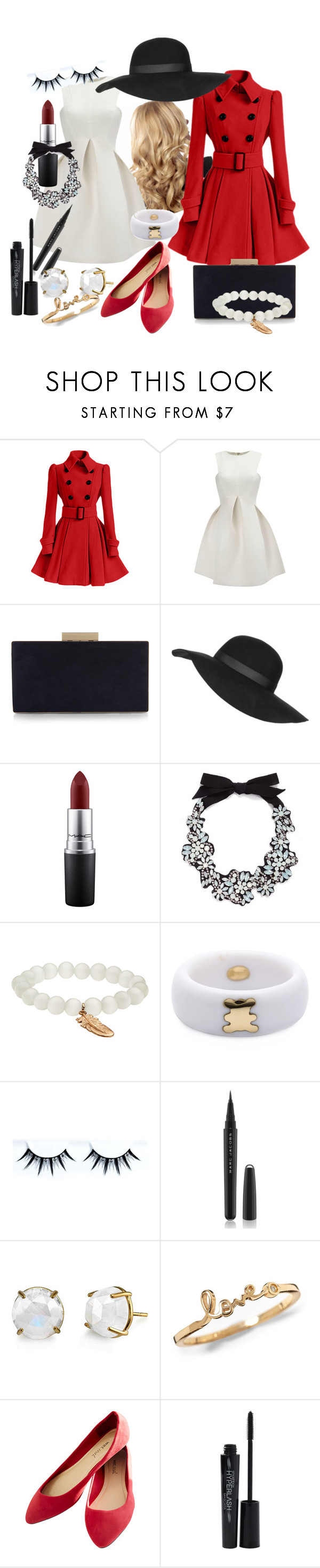 """""""No: 105"""" by crista-yorker ❤ liked on Polyvore featuring WithChic, Monsoon, Topshop, MAC Cosmetics, J.Crew, Aéropostale, Kristin Hanson, Marc Jacobs, Wet Seal and Smashbox"""