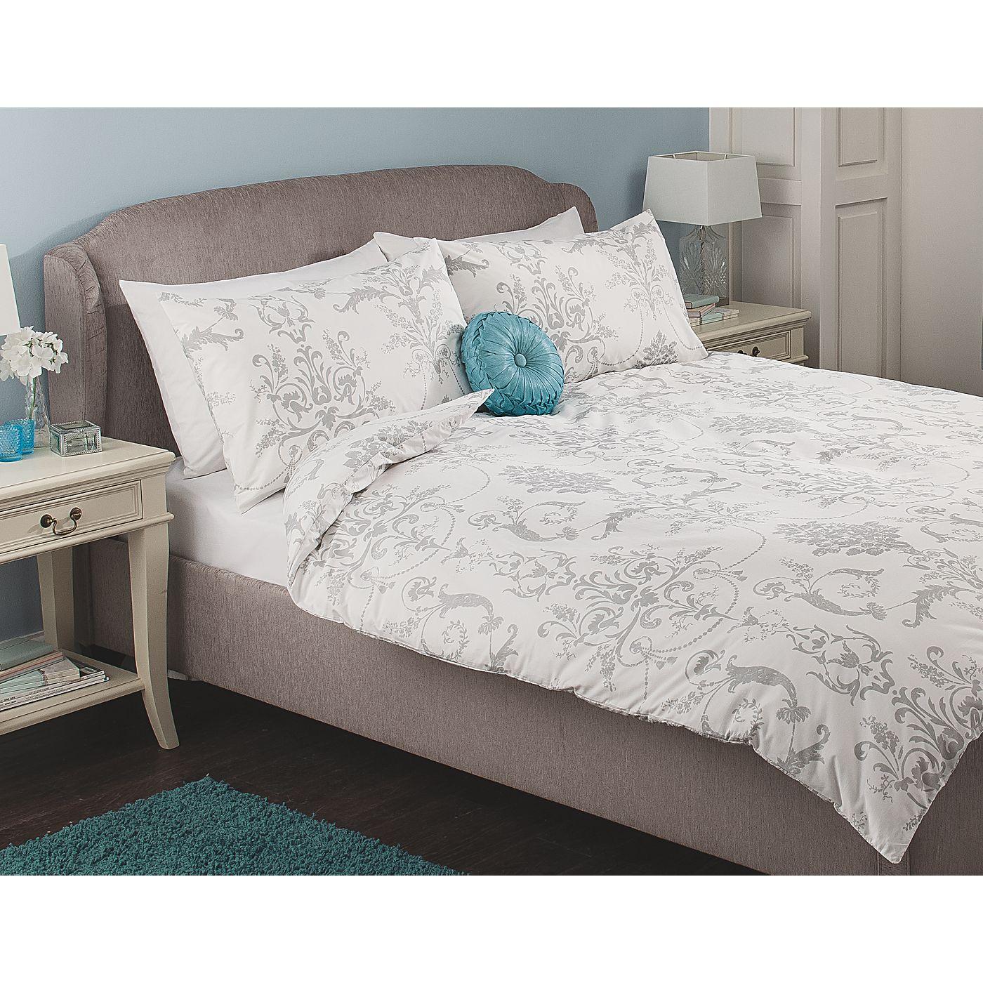 George Home Delicate Damask White Duvet Range Bedding Asda Direct