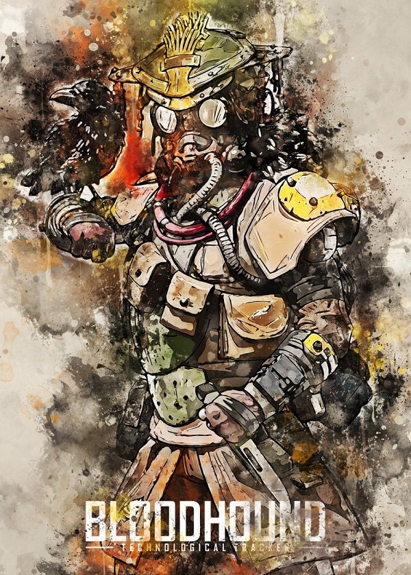 "Apex Legends Watercolour Splatter Characters Bloodhound #Displate explore Pinterest""> #Displate artwork by artist ""Andi… 