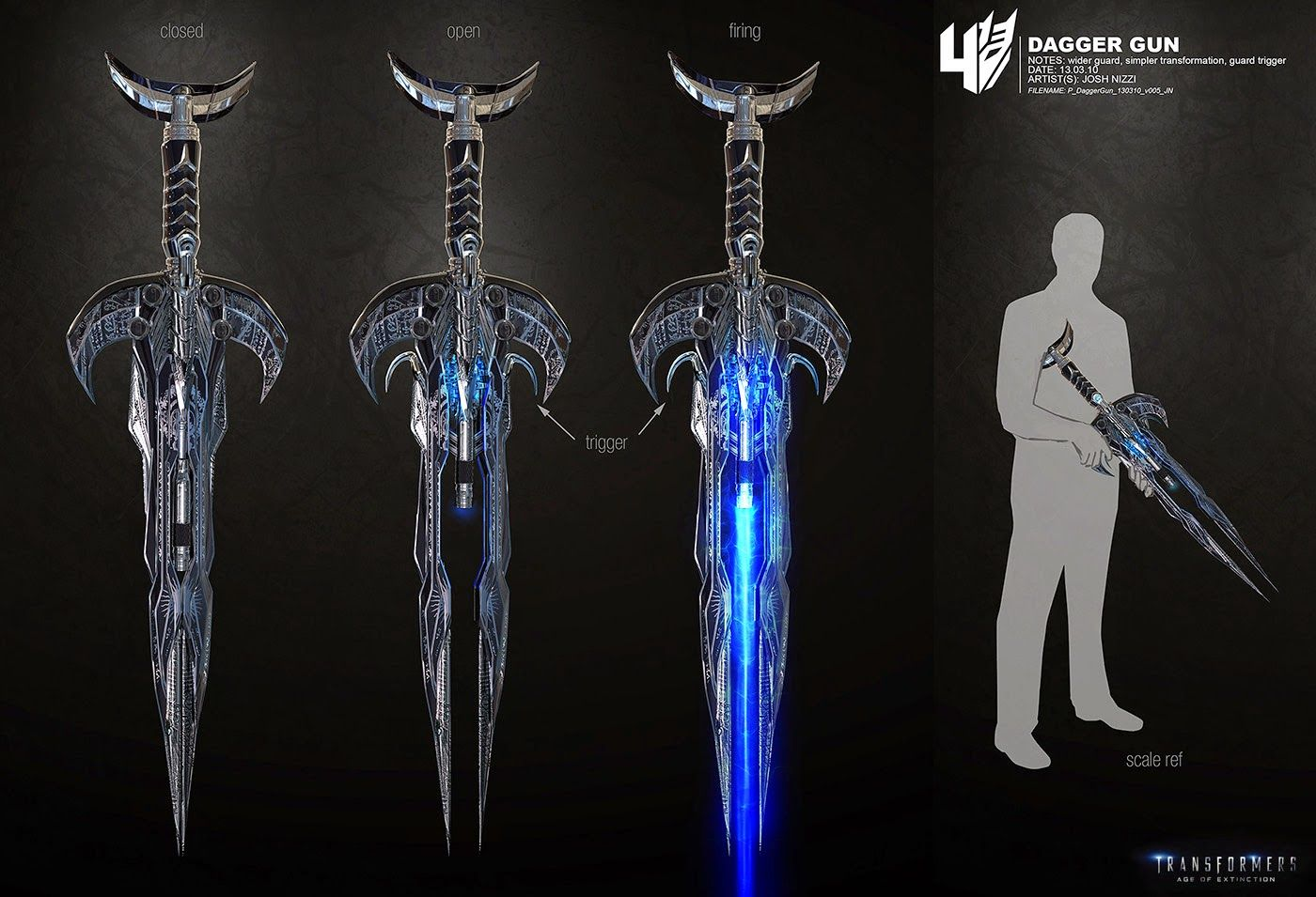 Dagger Gun From Age Of Extinction