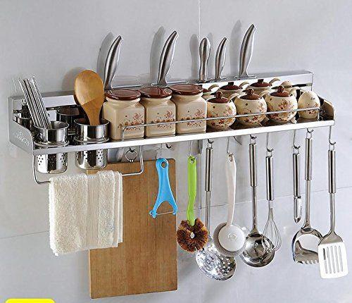 Multipurpose Stainless Steel Kitchen Utensils Organizer Holder 31 Wall Mounted Pa Kitchen Utensil Holder Kitchen Utensil Organization Kitchen Utensil Storage