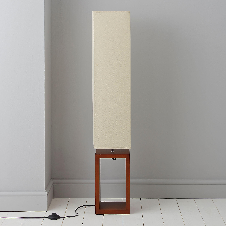 Cargo Dark Brown & Cream Floor Lamp | Dark brown, Floor lamp and Room