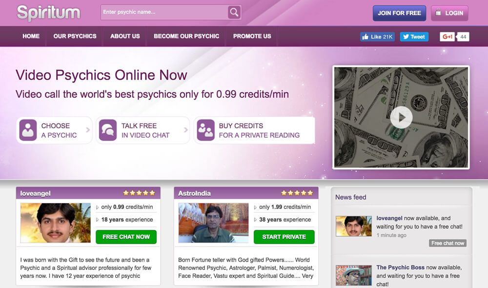 Spiritum Review _ Video Psychics Online