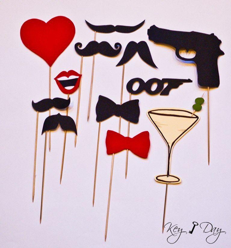 James bond agent 007 photo booth by key day key day for 007 decoration ideas