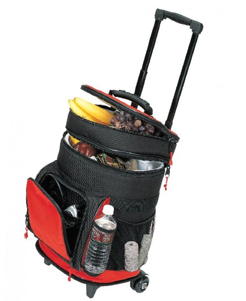 deluxe ripstop rolling cooler [red/black]