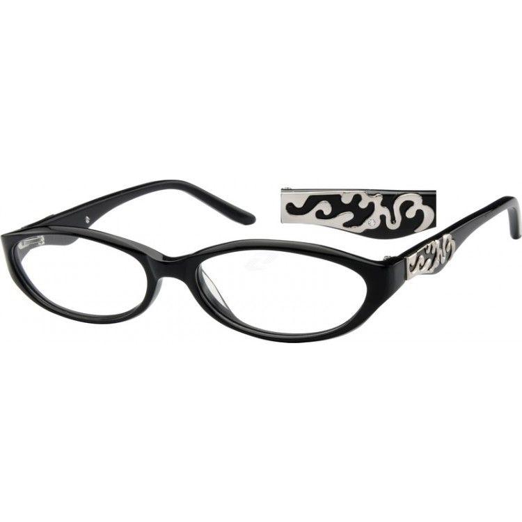 Black Oval Glasses #610521 | Zenni Optical Eyeglasses ...