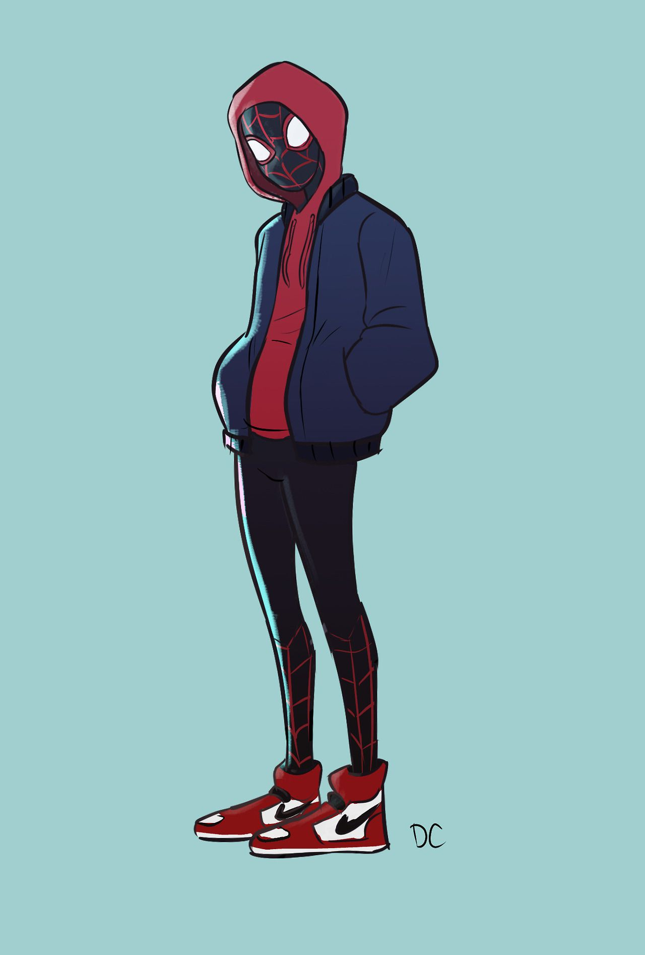 quick little miles morales drawing between working on stuff for