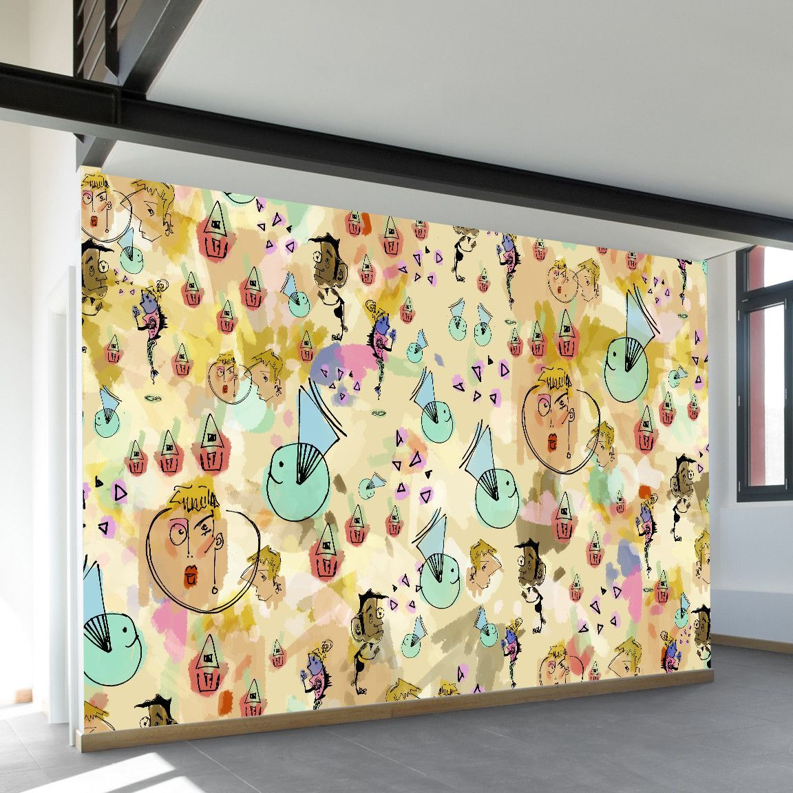 Confetti Peeps Wall Mural | Wall murals and Products