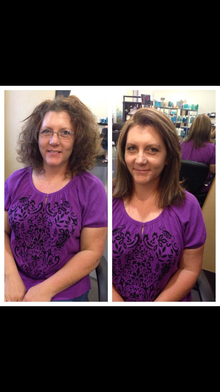 Smoothing treatment and color/ hilite. What a difference!  http://www.salonevangelene.com