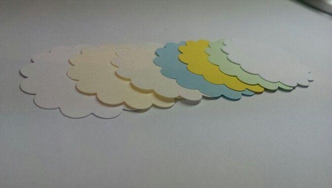 Runde Kennzeichnungskärtchen mit Wellenrand