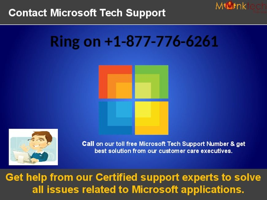 Call on Microsoft Support Phone Number 1-877-776-6261 toll free .We are available 24*7 to help you in USA &… | Microsoft support. Microsoft ...